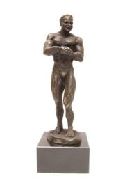 bronzen beeldje - sculptuur - sport - bodybuilding - Martinique