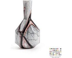 Design fles Benito - Fidrio ONYX FLAME - glas, mondgeblazen - hoogte 25,5 cm