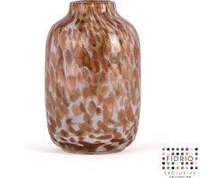 Design vaas Toronto L - Fidrio GOLD - glas, mondgeblazen bloemenvaas - hoogte 27 cm