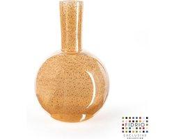 Design vaas Globe M - Fidrio COPPER - glas, mondgeblazen bloemenvaas - hoogte 26 cm --