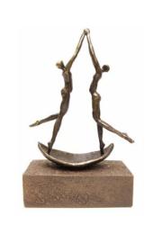 Urn brons - bronzen beeldje - sculptuur - vaarwel - 25 cm hoog - Martinique