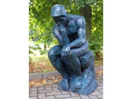 Tuinbeeld - groot bronzen beeld - Grote denker van Rodin - Bronzartes