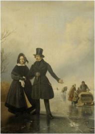 Schilderij Dibond - Schaatsen