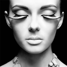 100 x 100 cm - Schilderij Dibond - Foto op aluminium - Fotokunst vrouw - Mondiart