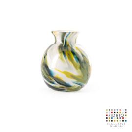 Design vaas Fidrio - glas kunst sculptuur - colori - mondgeblazen - 8 cm diep --