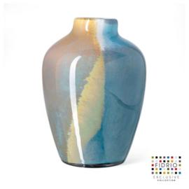 Design vaas Fidrio - glas kunst sculptuur - Sorobon - atlantic - mondgeblazen - 28 cm hoog