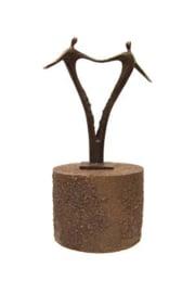Urn brons - bronzen beeldje - sculptuur - voor altijd samen - 21 cm hoog - Martinique