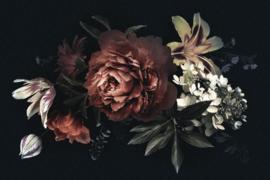 120 x 80 cm - Glasschilderij - schilderij fotokunst - stilleven bloemen - foto print op glas