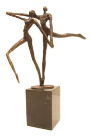 Bronzen beeldje - sculptuur - abstract - een goede uitstraling hebben - Martinique