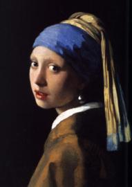 Schilderij Dibond - Meisje met de parel - Vermeer