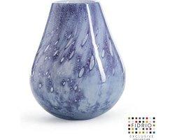 Design vaas Venice - Fidrio PASTEL BLUE - glas, mondgeblazen bloemenvaas - diameter 22 cm hoogte 28,5 cm