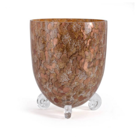 Design vaas Fidrio - Escargot gold - gekleurd glas - mondgeblazen - 22 cm hoog --