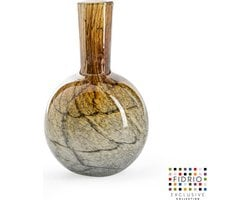 Design vaas Globe small - Fidrio DESERT - glas, mondgeblazen bloemenvaas - hoogte 20 cm
