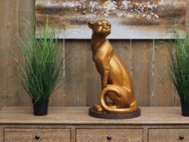 Beeld brons - Tuinbeeld - beeld cheetah - bronzartes
