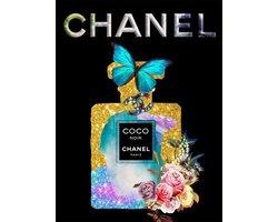 60 x 80 cm - Glasschilderij - Coco Chanel parfumfles - Brands & Fashion