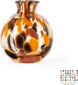 Design vaas Bolvase with neck - Fidrio Havanna - Bloemenvaas glas, mondgeblazen - diameter 11 cm --