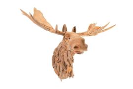 Houten kunst - Wanddecoratie - hout - eland