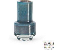 Design vaas Nuovo - Fidrio LAGOON - glas, mondgeblazen bloemenvaas - diameter 7 cm hoogte 12 cm --