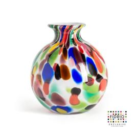 Design vaas Fidrio - Bolvase Candy - gekleurd glas - mondgeblazen - 11 cm diep --