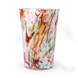 Design vaas Fidrio - glazen sculptuur - Mixed colours - glas - mondgeblazen - 35 cm hoog --