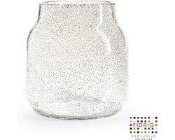Design vaas Bloom - Fidrio BUBBLES CLEAR - glas, mondgeblazen bloemenvaas - hoogte 20 cm --
