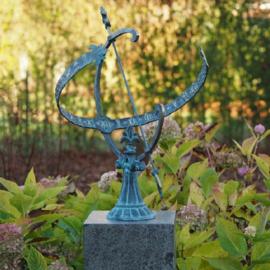 Zonnewijzer - bronzen wijzer - met dierenriem