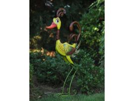 Tuinbeeld - metalen beeld - Kleurrijke vogel