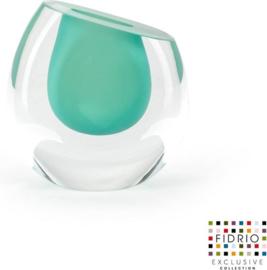 Design vaas Mini vase Pistachio - Fidrio Massive - glas, mondgeblazen - hoogte 11,5 cm