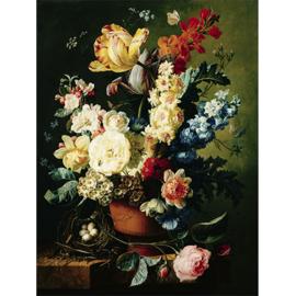 80 x 120 cm - Schilderij Dibond - Foto op aluminium - Stilleven - Fotokunst bloemen in vaas - Mondiart