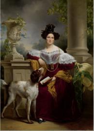 Schilderij Dibond - Jan Adam Kruseman - Portret van Alida Christina Assink