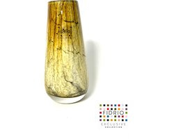 Design vaas Gloriosa - Fidrio DESERT - glas, mondgeblazen bloemenvaas - hoogte 15 cm