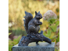 Tuinbeeld brons - Beeld Eekhoorn - Bronzartes