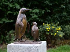 Tuinbeeld - bronzen beeld - Pinguïns - Bronzartes