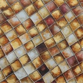 Olieverfschilderij - Ruiten Motief - 100x100 cm