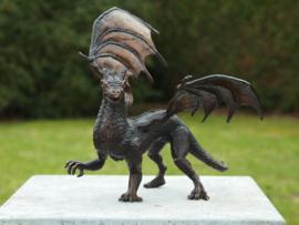 Tuinbeeld - bronzen beeld - Draak   - Bronzartes - 30 cm hoog