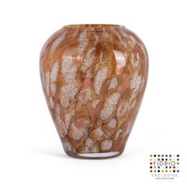 Design vaas Fidrio - Alore gold - gekleurd glas - mondgeblazen - 22 cm hoog --
