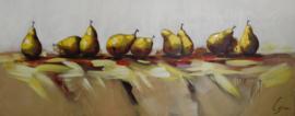 150 x 60 cm - Olieverfschilderij - Peren