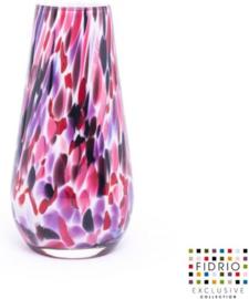 Design vaas Fidrio - Gloriosa Sensation - gekleurd glas - mondgeblazen - 22 cm hoog --