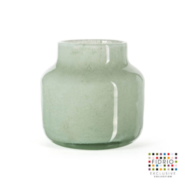 Design vaas Fidrio - glazen sculptuur - Uni colour - Pax Moss - glas - mondgeblazen - bloemenvaas - 20 cm hoog --