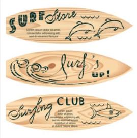 Foto op hout - Surfplank