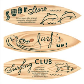 60 x 60 cm - Plexiglas schilderij - Surfplank - reclame fotokunst afbeelding op acryl