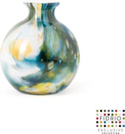 Design vaas bolvase - Fidrio COLORI - glas, mondgeblazen - diameter 11 cm --