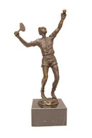 bronzen beeldje - sculptuur - sport - tennisser - Martinique