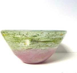 Design kom bowl - Fidrio mistique pink - glas, mondgeblazen - diameter 23 cm hoogte 13 cm