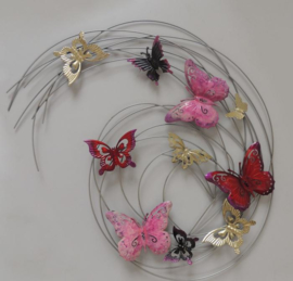 Metalen wanddecoratie - wanddeco - vlinders