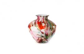 Design vaas Fidrio - glas kunst sculptuur - belly - Mixed colours - mondgeblazen - 23 cm hoog --