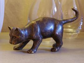 Tuinbeeld - bronzen beeld - Kat - Bronzartes