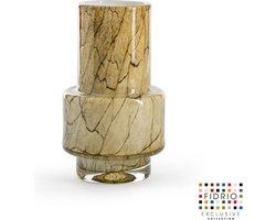 Design vaas Nuovo - Fidrio DESERT - glas, mondgeblazen bloemenvaas - diameter 7,5 cm hoogte 18 cm