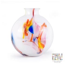 Design vaas Fidrio - glas kunst sculptuur - bolvase - Dance - mondgeblazen - 23 cm hoog --