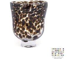 Design vaas Mundo Verde - Fidrio LEPPARD - glas, mondgeblazen bloemenvaas -